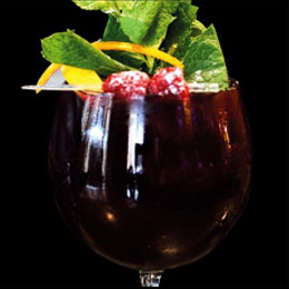 Lucano Cobbler Amaro Lucano red wine tonic water sugar syrup